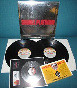 KISS Double Platinum ORIG 1st US CASABLANCA 1978 Embossed + Insert & Merch sheet