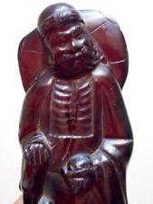 Antique Cherry Amber bakelite Carved Figurine Statuette 320g bakalit الباكل