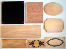 One Lot Of 8 Wooden Pieces For Craft Works * 8 Plaques En Bois Pour Bricolage