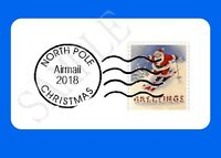 SANTA'S POSTMARK GLOSSY LABELS NORTH POLE MAIL SEALS CHRISTMAS NOVELTY STICKERS