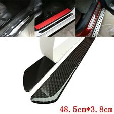 2Pcs Universal Door Sill Carbon Fiber Car Scuff Plate Cover Panel Step Protector