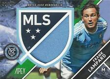 2016 Topps Apex Major League Soccer Crest Jumbo Relic Card Different #'d to /50