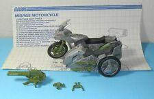 1985 GI Joe Silver Mirage Motorcycle w/ Blueprints *Near Complete BROKEN*
