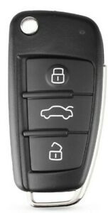 Remote key for AUDI A4 B7 A3 S3 TT S4 inc chip & transponder 8P0837220D 434MHz