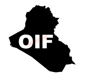 OIF Operation Iraqi Freedom Vinyl Decal Window Sticker Car