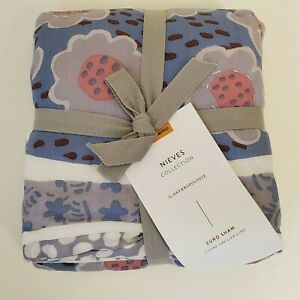Nieves Collection Euro Pillow Sham by Artisan Quilts and Anthropologie NEW