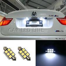 2pc White Festoon Interior & LED License Plate Lights Bulbs Festoon For Mercedes