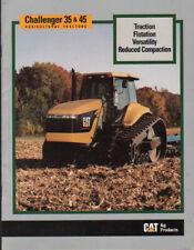 Caterpillar Challenger 35 & 45 Agricultural Crawler Tractor Brochure Leaflet