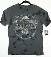 Affliction AC ALCHEMIST Short Sleeve T-Shirt Mens Grey