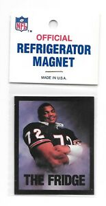 "Vintage NFL Chicago Bears William Perry ""The Fridge"" Refrigerator Magnet-Sealed"