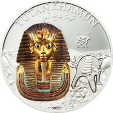 Cook Islands 2012 History of Egypt Tut Ankh Amon .999 Silver Plated 1 $ coin UNC