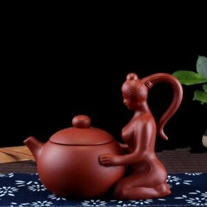 Authentic Handmade Chinese Teapot Purple Clay Mixing Kettle Home Drink-ware Set