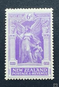 New Zealand Stamp 1920 Victory 6d Angel - UHM