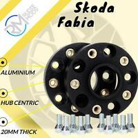 BLACK Skoda Fabia 5x100 57.1 20mm ALLOY Hubcentric Wheel Spacers