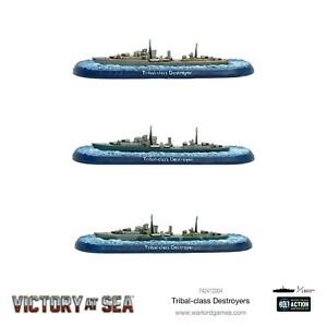 VICTORY AT SEA ~  ROYAL NAVY ~  TRIBAL CLASS DESTROYERS ~ NEW