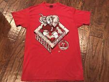 Vintage Alabama Crimson Tide T-Shirt Men's Large 90's Roll Tide Football SEC