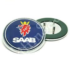 Saab 93 9-3 Bonnet Badge Front Hood Emblem Years 2003-2010 12844161 3Pin Blue
