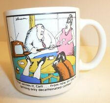 The Far Side Coffee Cup / Mug - Carl Decaffeinated Gary Larson 1980 Funny Quote