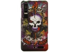 Rubber Coated Protector Case with Lion Skull Design for Motorola DROID 3