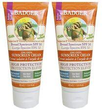 Badger Enfants sans Parfum SPF30 87ml Bio Solaire 2 Paquets Haute Uva Uvb