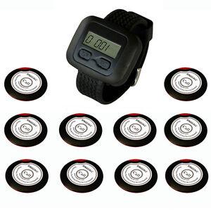 SINGCALL. Wireless Restaurant calling systems,10 button bells,1 Watch Receiver