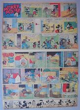 Mickey Mouse Sunday Page by Walt Disney from 6/18/1939 Tabloid Page Size