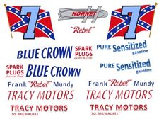 """#7 Frank """"Rebel"""" Mundy Tracy Motor Hudson 1/24th - 1/25th Scale Decals"""