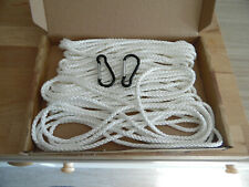 More details for 1 x flagpole line rope for 30' pole. 5mm low stretch polyester  - free clips