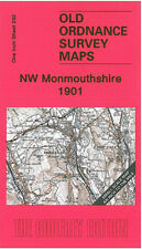 OLD ORDNANCE SURVEY MAP NW MONMOUTHSHIRE, ABERGAVENNY, BLAENAVON, TREDEGAR 1901