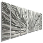 Silver Modern Abstract Metal Wall Art Sculpture - Home Decor - Jon Allen