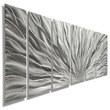Silver Modern Abstract Metal Wall Art Sculpture - Home Decor - Jon Allen