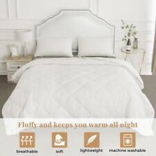 """White Ultra Soft Comforter Goose Down Alternative Duvet Insert 106""""x90"""" King"""