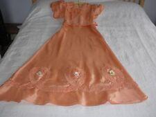 Vintage 1930 S satin demoiselles d'honneur robe