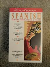 Living Language Spanish Complete Course Revised & Updated 40 Lessons 2 Cassettes