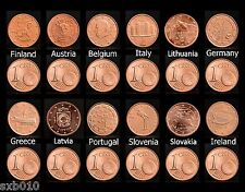New listing Lots Eu coins. 12 European countries, 12 coin collection. Unc Free shipping.