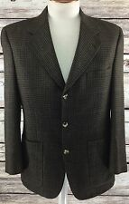 BURBERRYS Blazer Sport Coat BROWN Mens 3 Button Non Vented 40 Reg 40R Pure Wool
