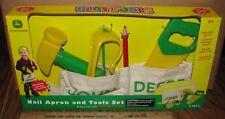 John Deere Kids Play Tool & Nail Apron Set 2003 Ertl Preschool Toy 34899 RETIRED