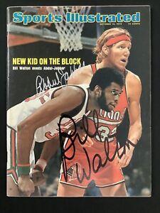 Kareem Abdul-Jabbar Signed Sports Illustrated 10/14/74 No Label Walton Auto JSA