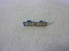 plaque immatriculation pièce détachée miniature MAISTO BMW Z8 1/18 1/18e 1/18ème
