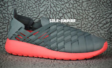 Nike WMNS RosheRun Woven 2.0 641220-002 Roshe Run Slip On Cool Grey L Crimson