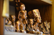 Dekofigur Ägyptische Büste Tutanchamun Statue Skulptur aus Messing