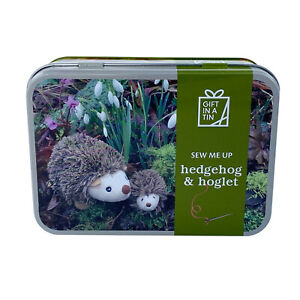 Sew Your Own Hedgehog and Hoglet in a Tin