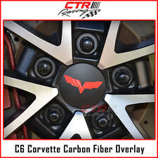 C6 Corvette Wheel Center Cap Rim Overlay Decal Carbon Fiber 2005-2013