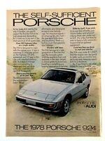 1978 Porsche 924 Vintage Print Ad