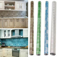 New 1M Kitchen Wallpaper Oil-proof Ceramic Tile Sticker Self-adhesive Home Decor
