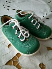 BABY'S SCHOES / BOOTS -  KAVAT - SWEDEN - ORIGINAL BOOTS FOR BABIES - GREEN