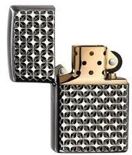 Engine turned Star heavy wall Armor case Zippo nuevo + embalaje orig. PVP 135 €