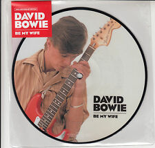 "DAVID BOWIE  BE MY WIFE  7""  PICTURE DISC 40TH ANNIVERSARY  MINT"