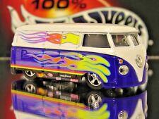 100% HOT WHEELS VW PANEL BUS LIMITED EDITION VOLKSWAGON 1/64 HIPPY CRUISER