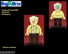 STAN LEE Marvel Custom Printed LEGO Minifigure NO DECALS USED!